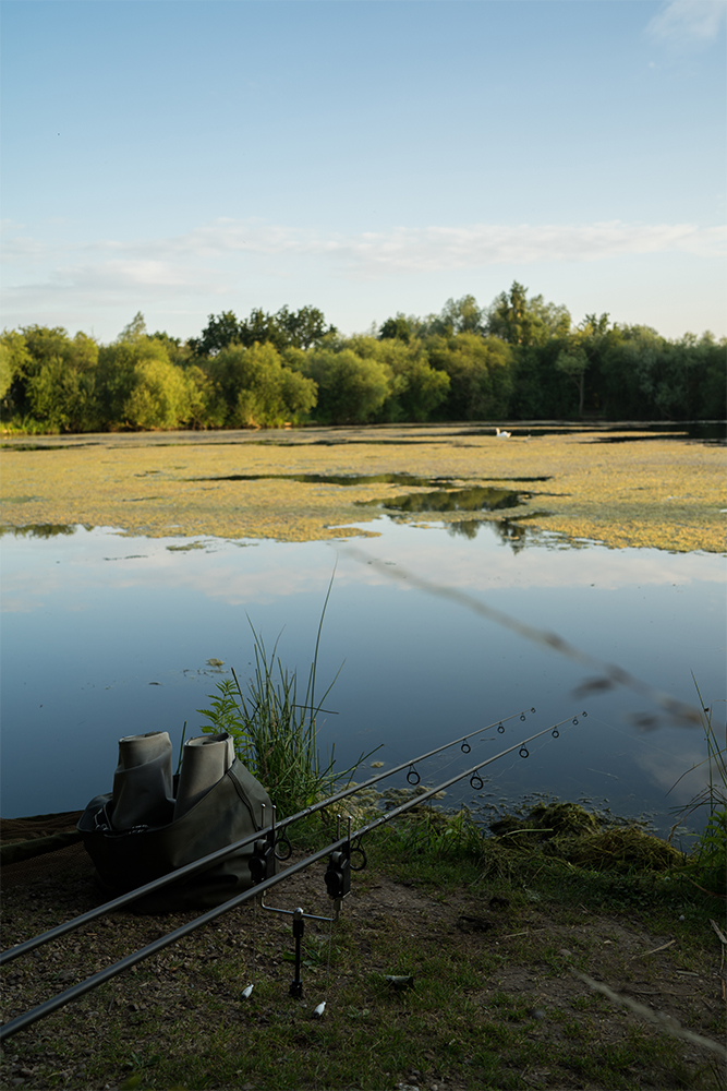 Two rods out and waiting...